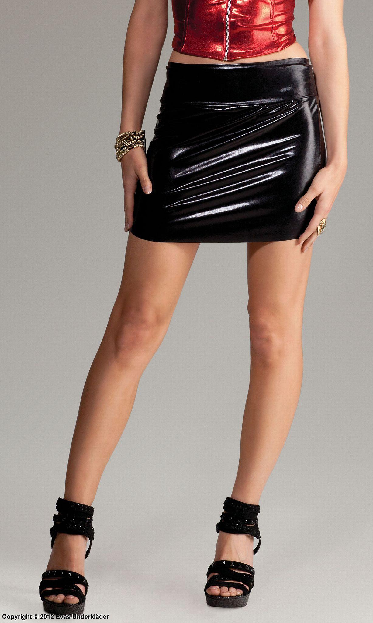 Kort kjol i svart   Dam   KappAhl